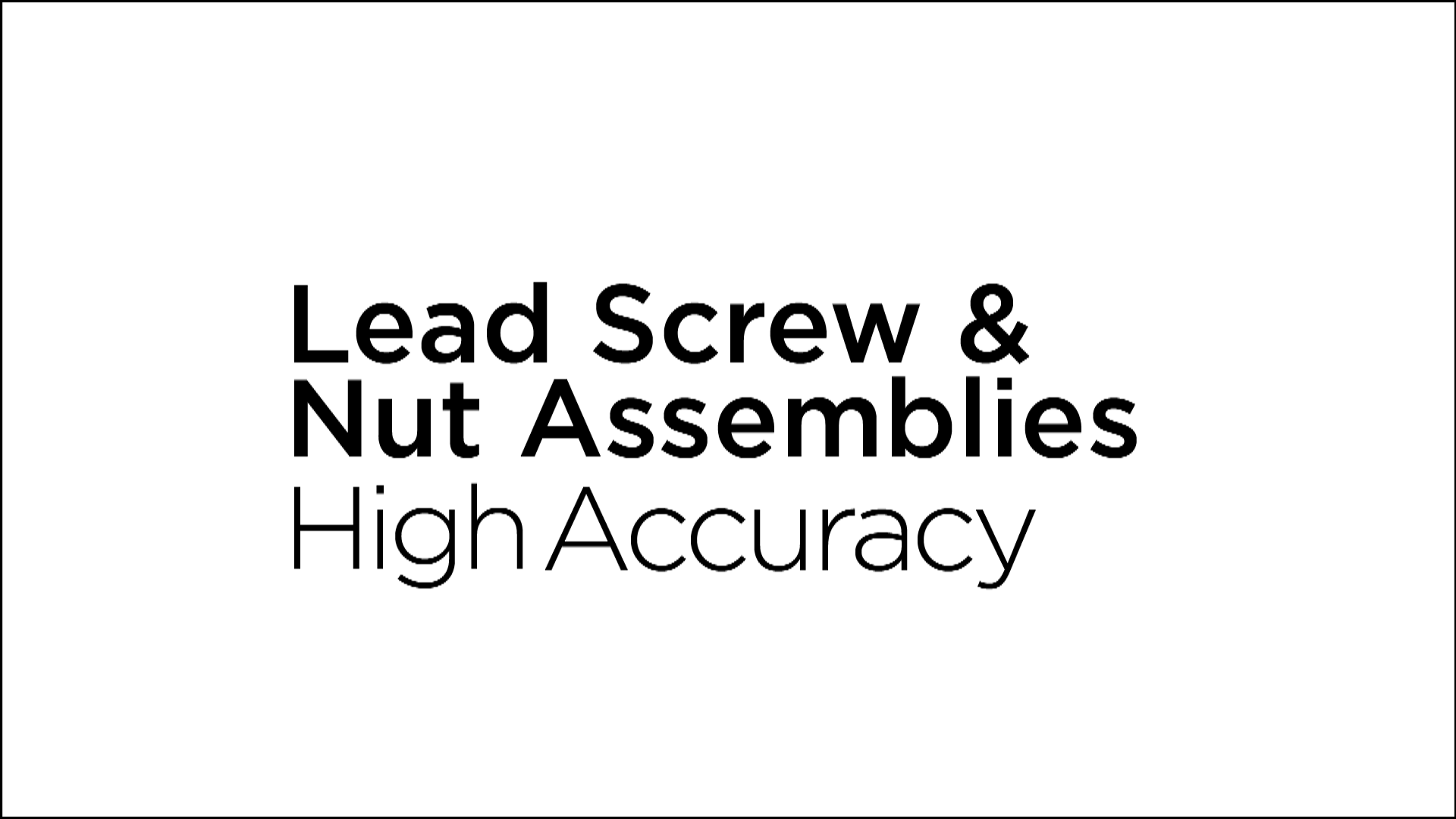 Haydon Kerk Lead Screw & Nut Assemblies Video